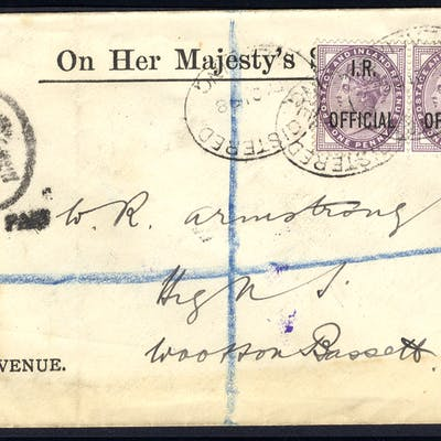 1898 O.H.M.S Inland Revenue envelope from Reading to Wootton Bassett