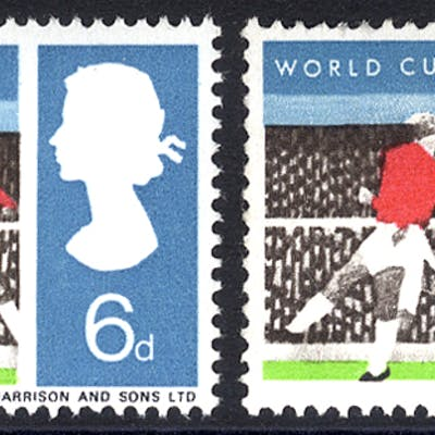 1966 World Cup 6d - BLACK OMITTED