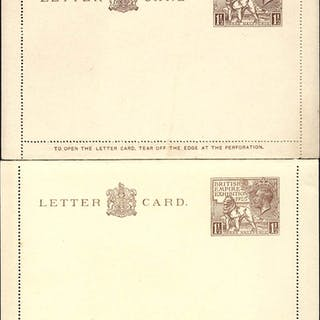1924 & 1925 British Empire Exhibition Wembley 1½d letter cards of