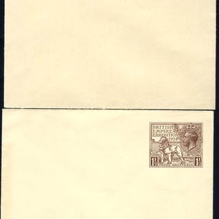 1924 & 1925 British Empire Exhibition Wembley 1½d envelope of each