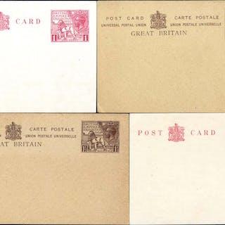 1924 & 1925 British Empire Exhibition Wembley 1d & 1½d postcards of