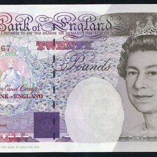 1994 Kentfield £20 Faraday (CJ24 413767), UNC