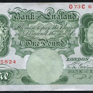 1950 Beale £1 green (073C 675824), VF+++