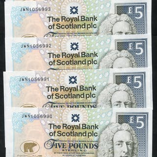 Royal Bank of Scotland 2005 Goodwin £5 Jack Nicklaus consecutive run