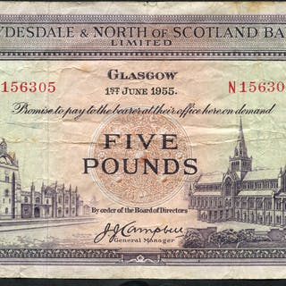 Clydesdale & North of Scotland Bank 1955 (June 1st) J. J. Campbell