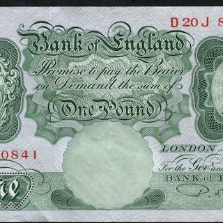 1950 Beale £1 green (D20J 820841), A/EF