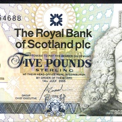 Royal Bank of Scotland 2005 Goodwin £5 Jack Nicklaus (JWN0454688), UNC