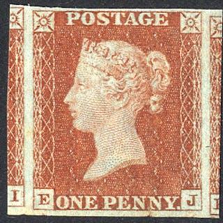 1841 1d red-brown EJ