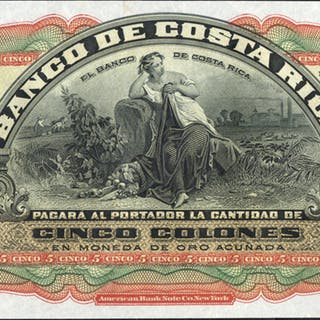 Costa Rica 5 colones 1908
