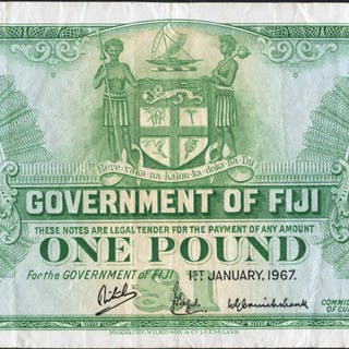 Fiji £1 dated 1967