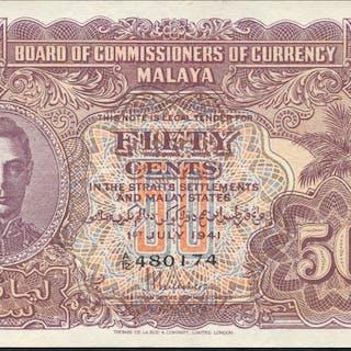Malaya 50 cents KGVI, dated 1941