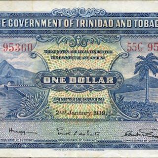 Trinidad & Tobago $1, dated 1939