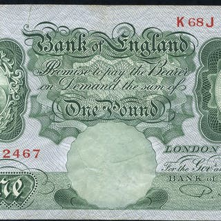 1950 Beale £1 green (K68J 382467), VF.