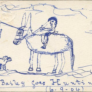 1904 postcard from the Bill Bailey Correspondence, used locally in
