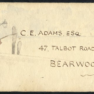 1916 The Adams Correspondence envelope (1) & envelope fronts (2)