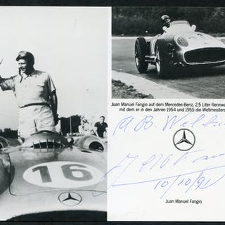 FANGIO, JUAN (Famous Racing Driver) clear signature, complete with envelope