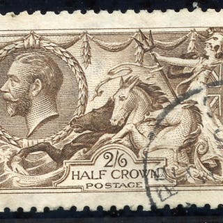 1915 D.L.R 2/6d grey brown, Spec N64 (3), SG. 407