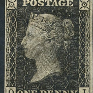 1865 (Sept) 'Royal Reprint' 1d black Pl.66 QI, fine & fresh, Spec