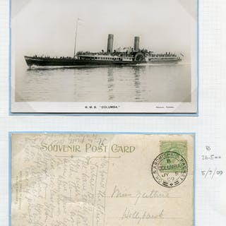 1909 picture postcard franked ½d Edward, real photo picture postcard