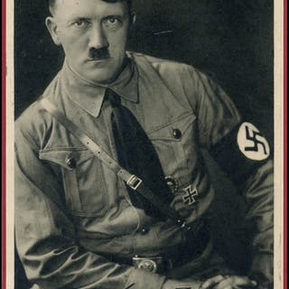 HITLER, ADOLF SIGNATURE photograph (5x7) of Hitler mouned on a lightly