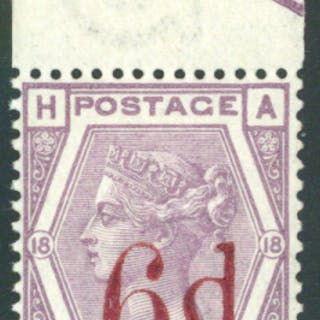 1880-83 wmk Imperial Crown 6d on 6d lilac