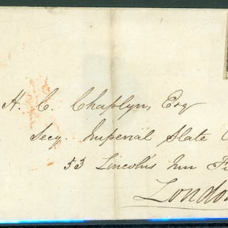 1841 Jan 11th cover from Ireland to London