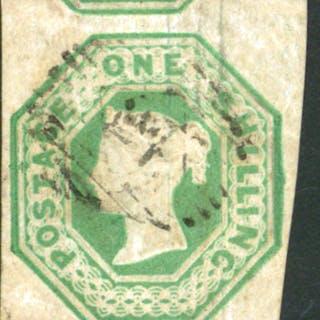 1847-54 1s green die 2