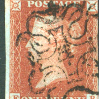 1841 1d red EB, Maltese Cross