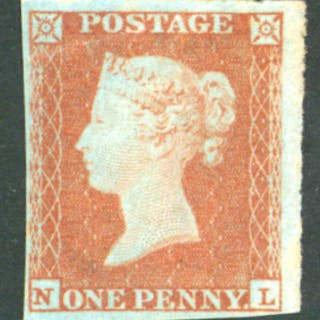 1841 1d red brown lett NL