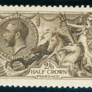 1915 D.L.R 2/6d sepia (seal brown)