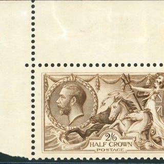 1918 Bradbury 2/6d reddish brown, Cat. £325