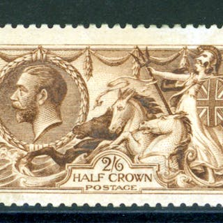1915 D.L.R. yellow brown, Cat.£550