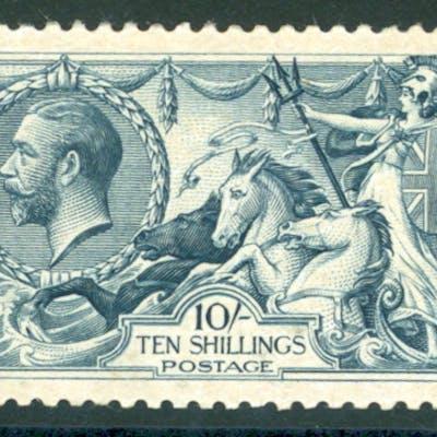 1918 Bradbury 10s dull grey-blue