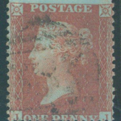1855 1d red brown Die II, Alph III, Pate 23