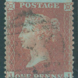 1855 1d red brown Die II, Alph III, Pate 23