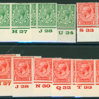 1924 Block Cypher ½d & 1d, SG.18 & 19