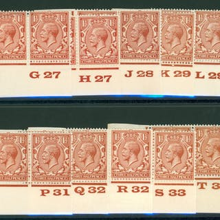 1924 Block Cypher 1½d red brown SG.420