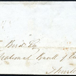 1841 cover from Midland Bank London office to Midland Bank, Thurles