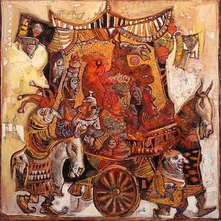 La charrette du Sardarshahar circus - Christophe Ronel