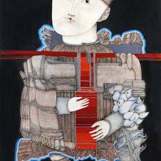Homme au manteau de nuages - Elisabeth Baillon