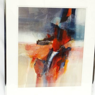 Original Jan Dorer Watercolor Matted and Framed, All, >, Fine Art