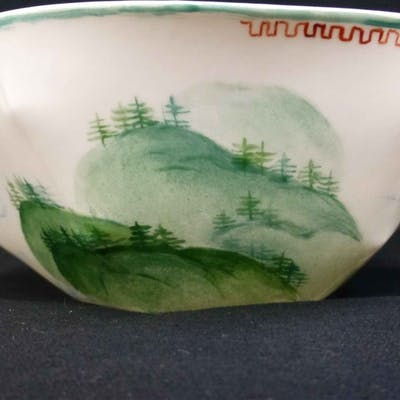 Lightscape Nymphenburg Cereal Bowl Painted w Label, All, >, Fine Art