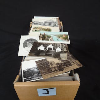 800 Postcard Lot: Mostly Great Britain and England Ealry Borders