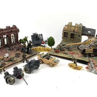 Toys and models to model tanks, aircraft, soldiers, trees and accessories