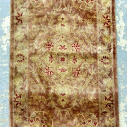 Pink Ground Persian Type Rug Closed Auction
