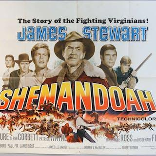 Shenandoah (1965) British Quad film poster