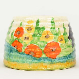 Bizarre by Clarice Cliff for Wilkinson honey pot lacking cover