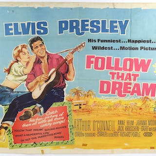 Elvis Presley - Two British Quad film posters for Follow...