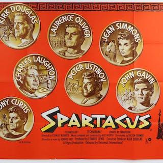 Spartacus (1960) British Quad film poster