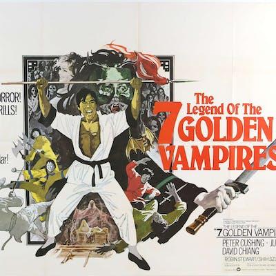 The Legend of the 7 Golden Vampires (1974) British Quad film poster